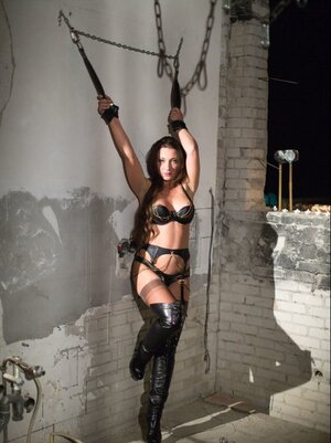 Defiled man brings babe in latex outfit at his place for proper punishment