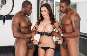 Fascinating Soccer mom Lisa Ann cheats on husband with strong black stallions
