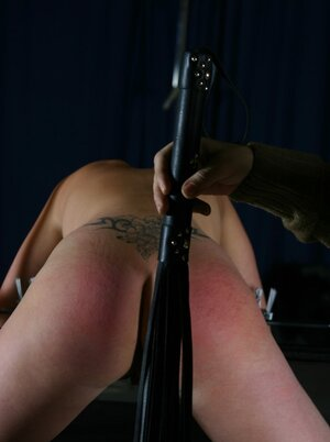 Pretty blonde and additionally her red-haired partner dominated by perverted master