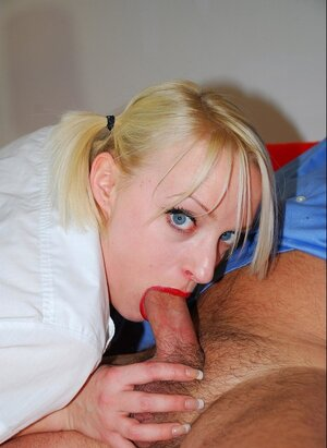 Hot slim blonde enjoys sex with man aged enough to be her stepfather