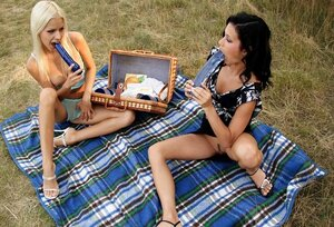 Divas from Hungary Boroka Bolls and besides Missy Nicole at picnic with no food but toys